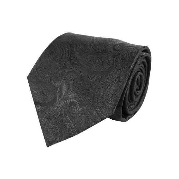 Klassisk Paisley Slips i Sort - Slips - Laurant Bennet Milano - the-prince-webshop