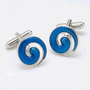 Manchetknapper Blue Swirl - Manchetknapper - Onyx Art of London - the-prince-webshop