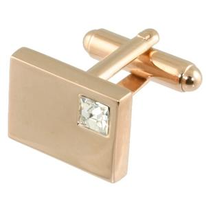 Manchetknapper Rosa Guld Cornerstone White Crystal - Manchetknapper - Ceels - the-prince-webshop