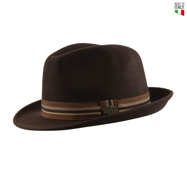 MJM Oscar Uld Filt Hat - Brun - Hat - MJM Hats - the-prince-webshop