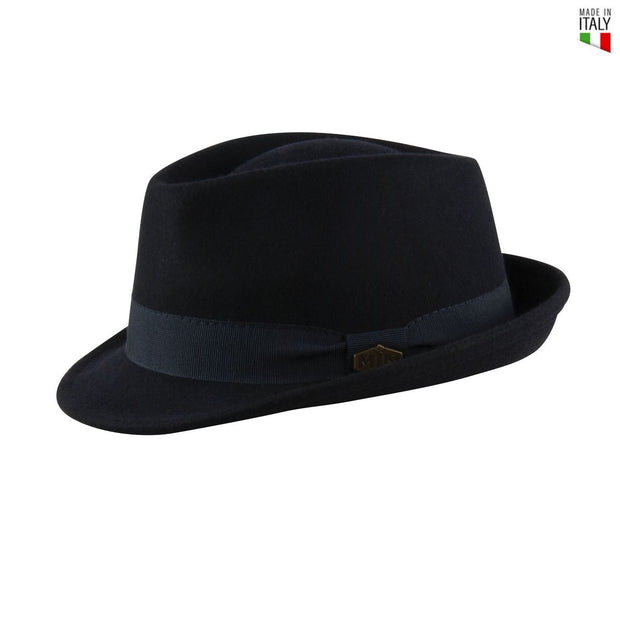 MJM Snap Uld Filt Hat - Navy - Hat - MJM Hats - the-prince-webshop