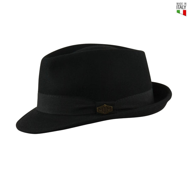 MJM Snap Uld Filt Hat - Sort - Hat - MJM Hats - the-prince-webshop
