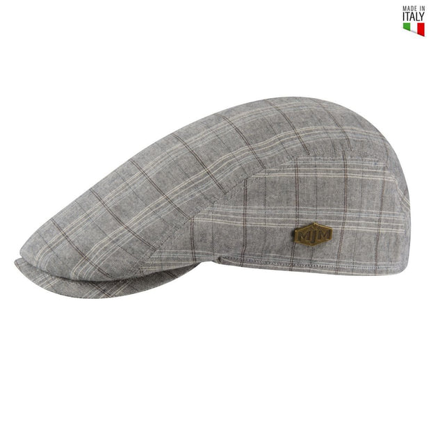 MJM Young Flat Cap -  Grey Check - Hat - MJM Hats - the-prince-webshop