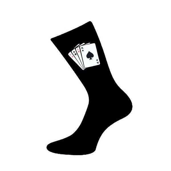 Novelty Socks - 4 Aces Playing Cards Poker Strømper - Herre Strømper - Cadogan - the-prince-webshop