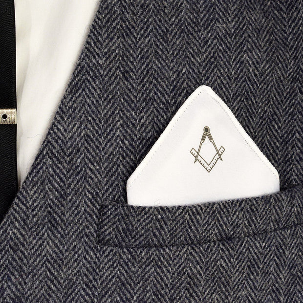 Pocket Square med Frimurer Tegn - Lommeklud - The Prince's Own - the-prince-webshop