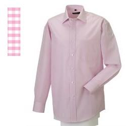 Skjorte 43/44 Gingham Check Pink - Skjorte - Russell Collection - the-prince-webshop