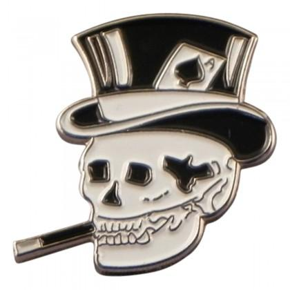 Smoking Skull Pin - Reversnål - The Prince's Own - the-prince-webshop