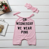 On Wednesday We Wear Pink Romper