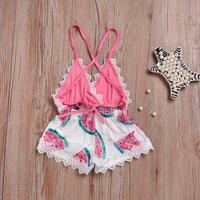Watermelon V-neck Romper
