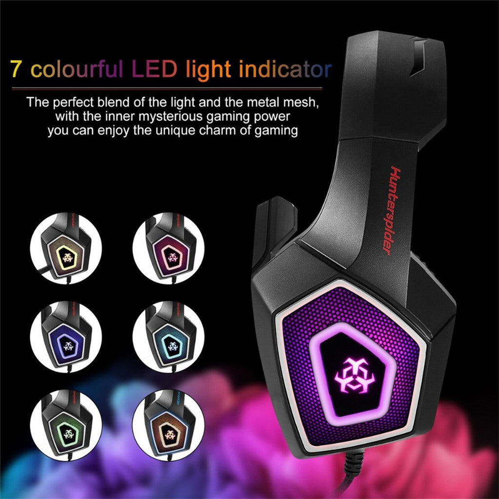 Arkartech V1 Gaming Headset with 7 LED Light for PS4/Xbox one/PC
