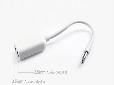 4.Lavon 3.5mm Stereo Audio Jack Adapter