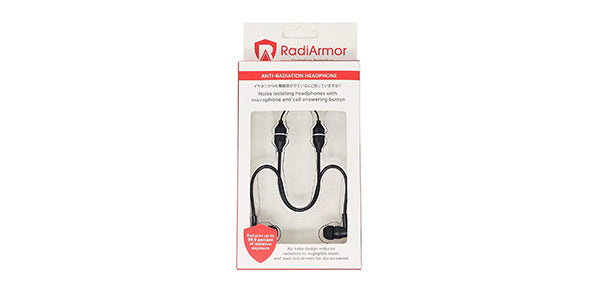RadiArmor Anti-Radiation Air Tube Headphones with Mic