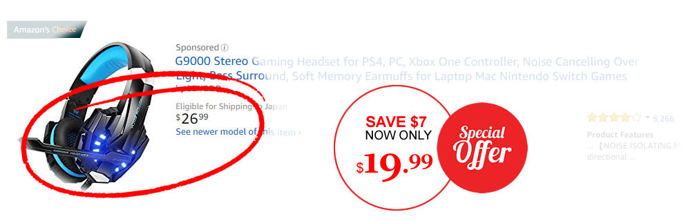 Save $7 G9000 Gaming Headset