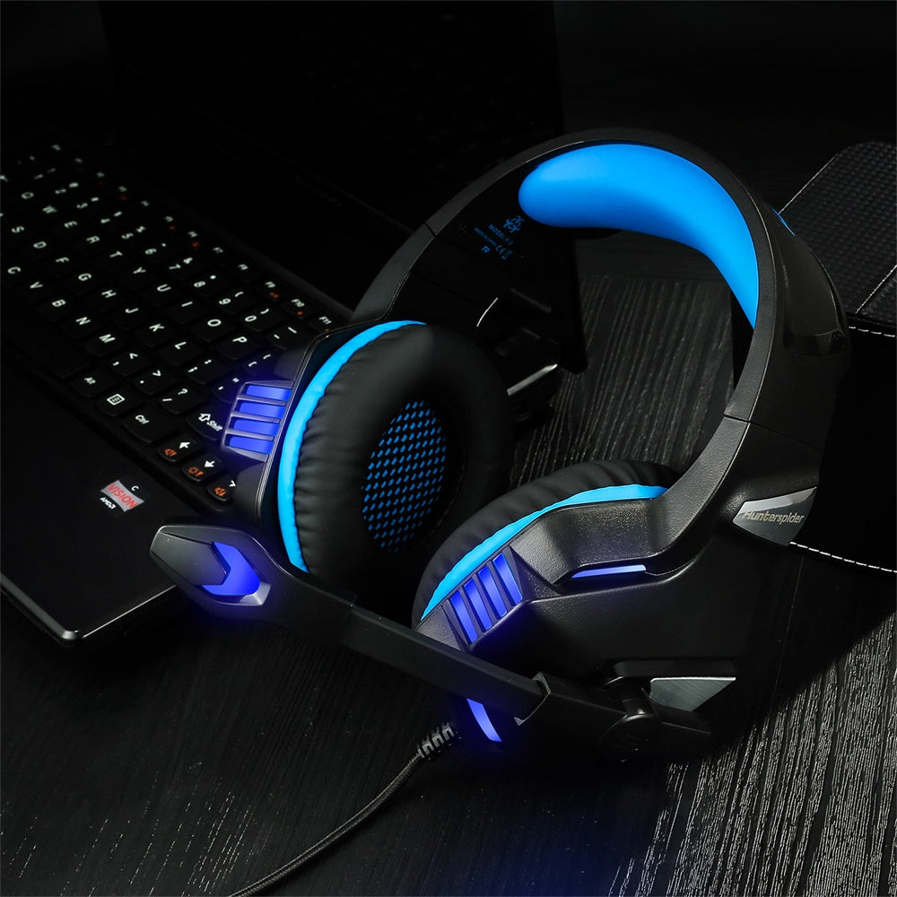 Arkartech V-3 Portable Headset, Stereo Bass Gaming Headsets With Adjustable Noise Cancelling MIC and In-Line Volume Control