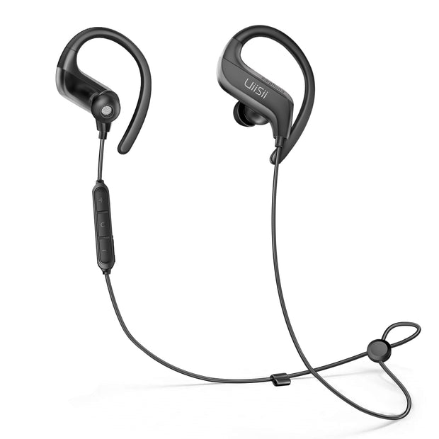 Uiisii BT100 Earhook Bluetooth 5.0 Sport Headphones with Mic-Arkartech