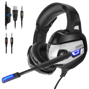 K5 Pro Noise Canceling Mic &7.1 Surround Bass Gaming Headsets-Arkartech
