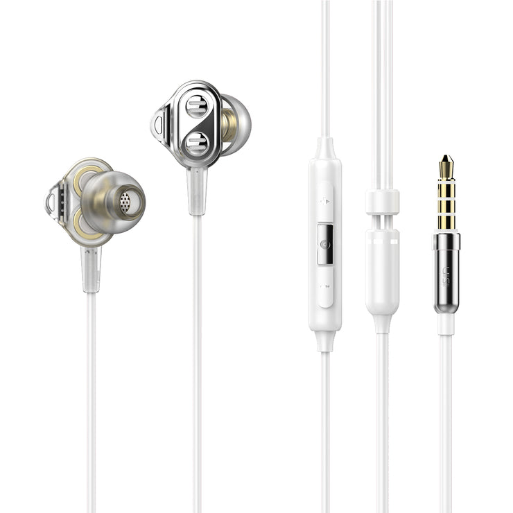 Uiisii DT800 Quad Drivers Hi-Res In-Ear Headphones with mic-Arkartech