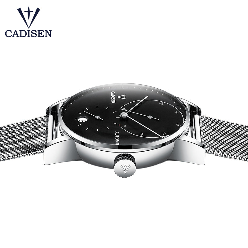 CADISEN Top Mens Watches Top Brand Luxury Automatic Mechanical Watch Men Full Steel Business Waterproof Fashion Business Watches