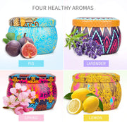Scented Candles Gift 4pcs/set Tin Can Smokeless Aromatherapy