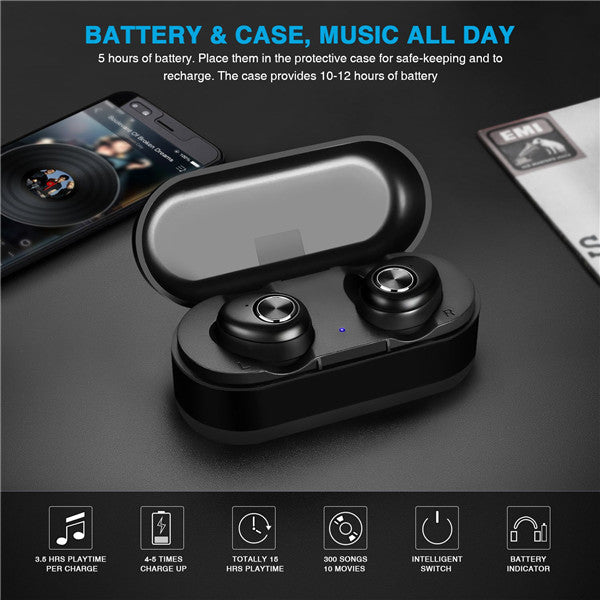 Uiisii Bluetooth 5.0 TWS Smallest Ture Wireless Sports Earbuds-Arkartech