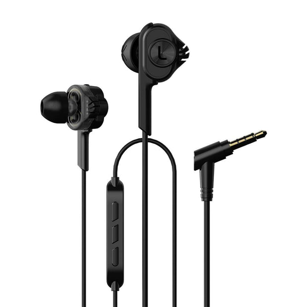 Uiisii T6 Wired Dual Driver Deep Bass Earphone Hi Res Headphones With Mic-Arkartech