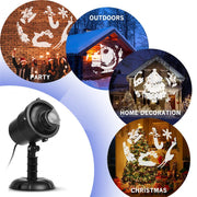 3D Christmas Projector Lights For Outdoor Festivals Party Decoration