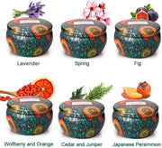 Scented Aromatherapy Candles Gifts Collection for Women 6X6.5 Oz Set
