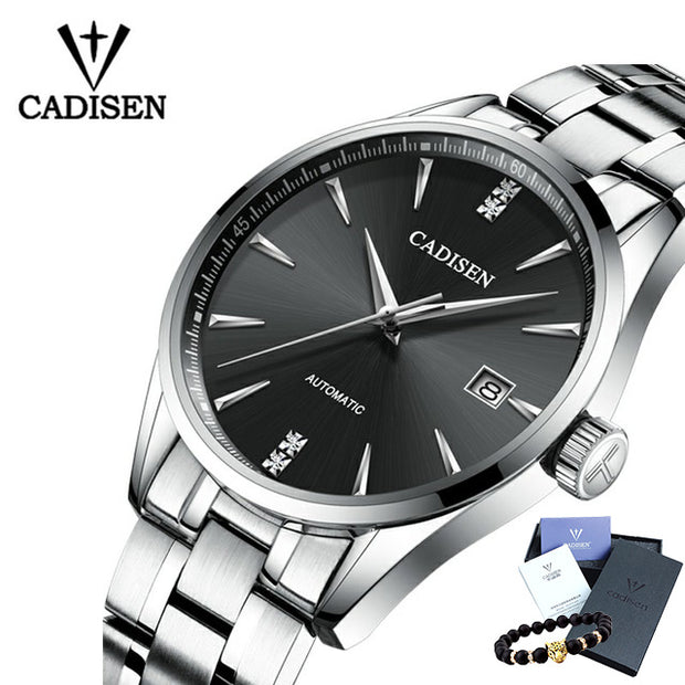 CADISEN Luxury Brand Men's business automatic mechanical male wirstwatch waterproof thin relogio masculino watch-ArkarTech