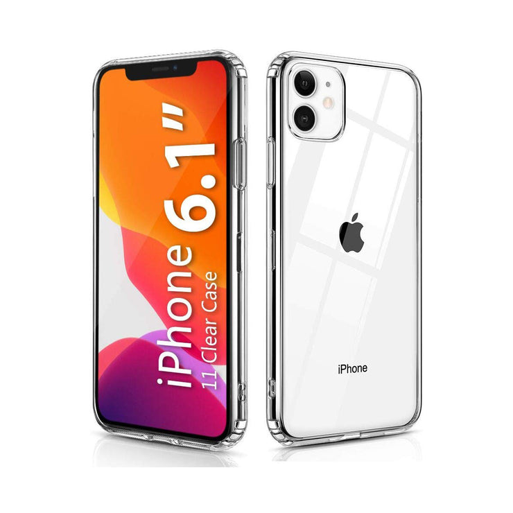 Shockproof Clear Case with Hard Shield and Soft Bumper for iPhone 11
