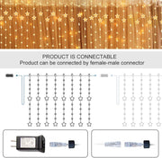 2m 144 Leds Romantic Sequence Light Fairy Star Curtain Christmas Light