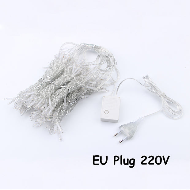 3x3M Christmas Lights 300 Leds 110V for Ggarden Party Xmas Decoration