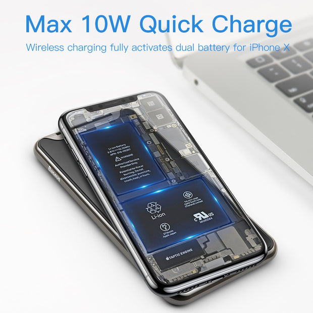 Qi-Certified Wireless Charging Stand for iPhone and Android