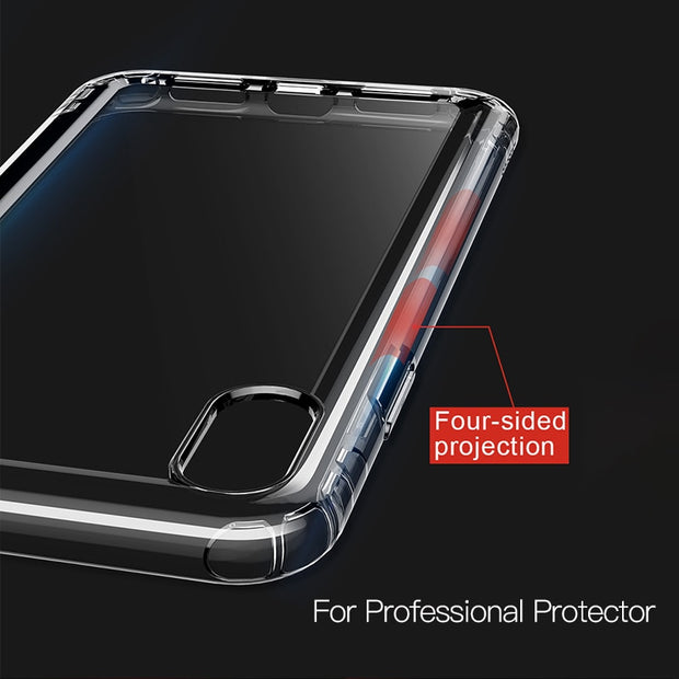 Anti-Knock Transparent Soft TPU Phone Case For iPhone Xs Xs Max XR