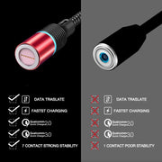LED QC 3.0 Magnetic Fast Charging Universal USB Cable