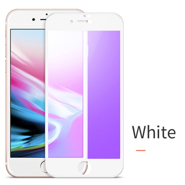 Anti Blue Ray Tempered Protective Glass Film for iPhone 7 8 PLUS Full Touch Cover Screen Protector