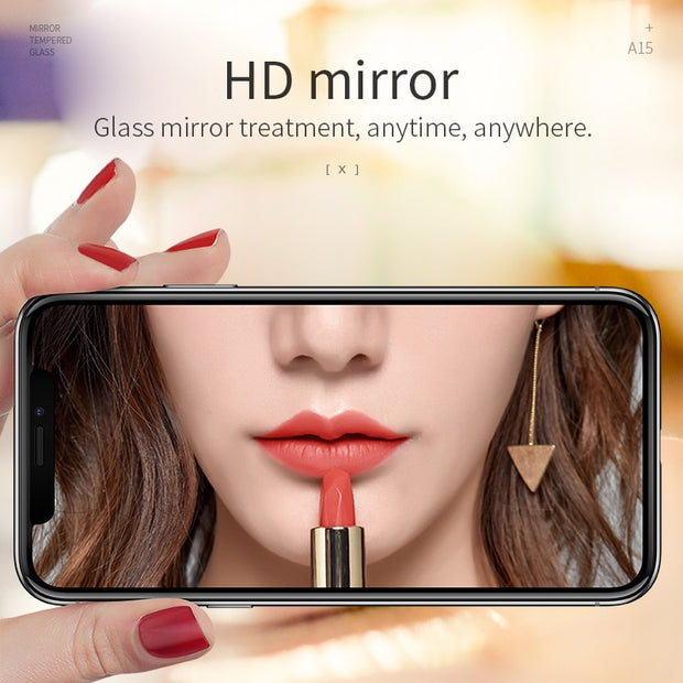 HOCO Mirror Tempered Glass for iPhone X XS Full Cover HD Scratch Proof Screen Protector for iPhone XS Max XR Grils Glass Film