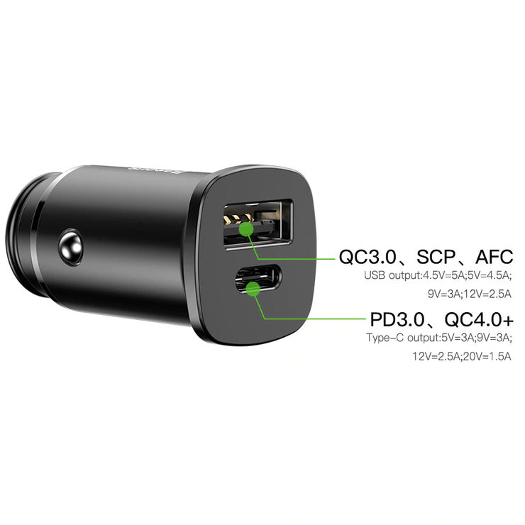 30W Dual USB C PD Quick Vehicle Charger