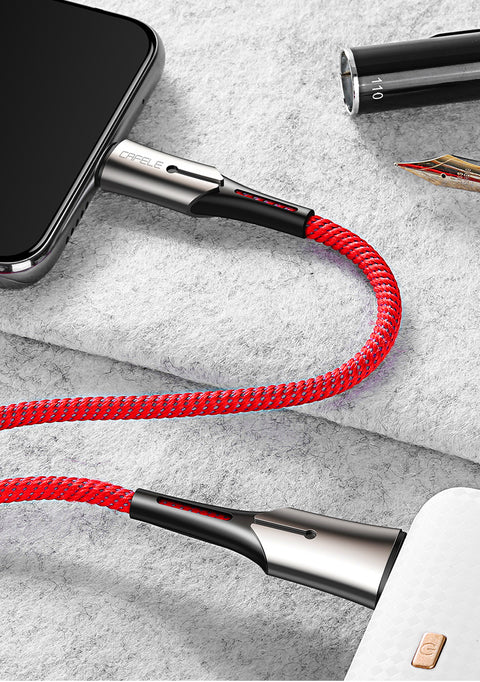 Max 5A Fast Charging USB Type A-to-USB Type C Charge/Sync Cable