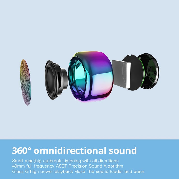 Colorful Aluminium Alloy Body Bluetooth Mini Speaker