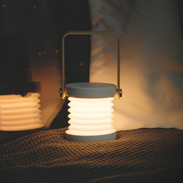Wooden Portable Handle Lantern Telescopic Folding Table Lamp
