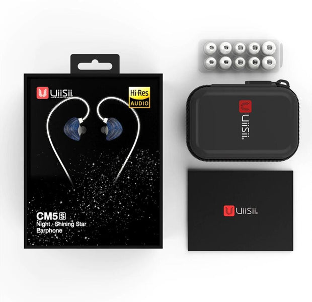UiiSii CM5 Double Axis Graphene Wired In-ear Earphones-Uiisii