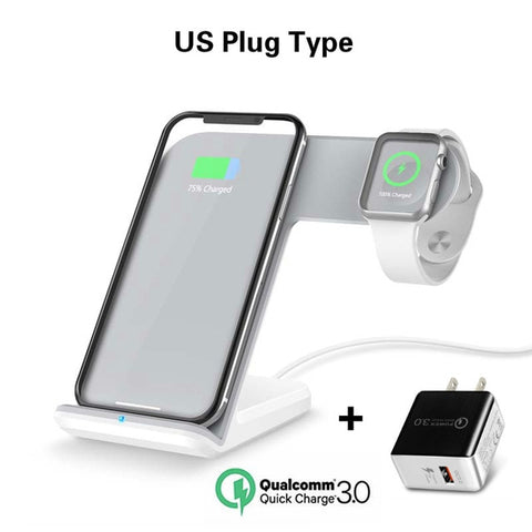 Qi Wireless Charger For Iphone Apple Watch
