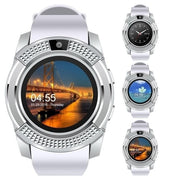 V8 Men Smart Watch with Camera Sim Card Slot