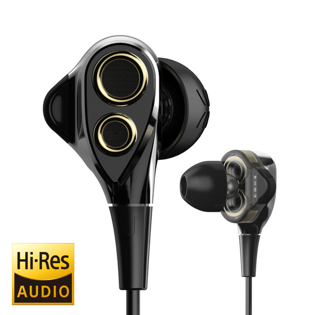 T8S In-ear Triple Driver HiFi Earbuds Headphones with Mic and Volume Control-ArkarTech