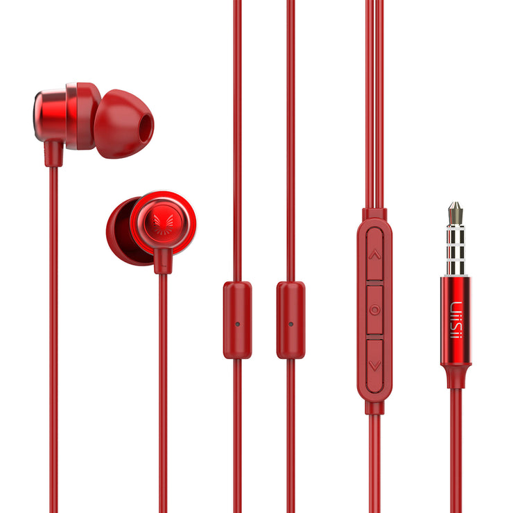 Uiisii K8 Wired Hybrid Gaming Noise-Reduction Earphones with Dual Mic-Arkartech