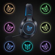 K9 Gaming Headphones for Xbox One, Switch, PS4 with LED Light Mic-Arkartech