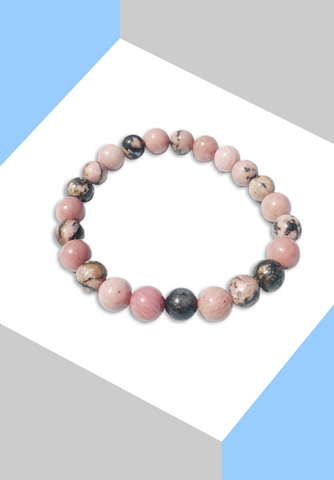 "Bracelet ""Mémoire & Encourage""  Rhodonite - Zen-Plénitude-Shop"