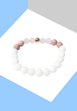 "Bracelet ""Energie & Amour""  Quartz Rose & Rhodonite - Zen-Plénitude-Shop"