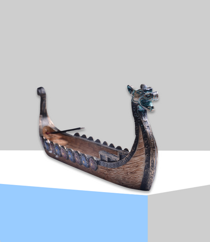 "Porte Encens Dragon <br> ""Bateau traditionnel"" - Zen-Plénitude-Shop"
