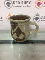 Tan Tear Drop Mug